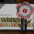 Birthday wishes card with April kit